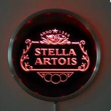 Rs-a0075 stella artois conduziu sinais redondos 25 cm/10 Polegada da barra da luz de néon com controle sem fio remoto da multi-cor do rgb