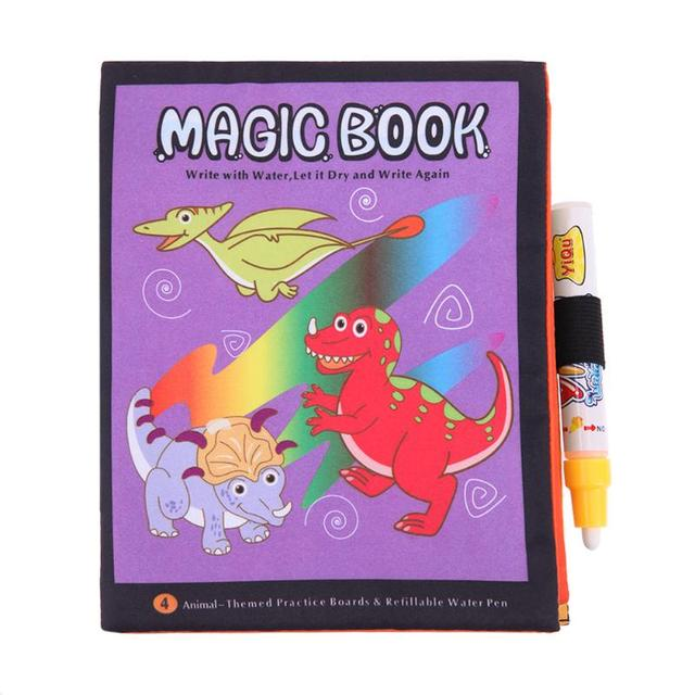 Colorful Drawing Cloth Book with Magic Pen Kids Water Painting Doodle Graffiti Animal Story Book Children Early Educational Toys
