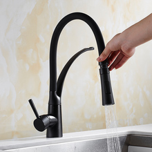 OUYASHI kitchen faucet pull down deck mounted cold and hot water tap sink mixer tap