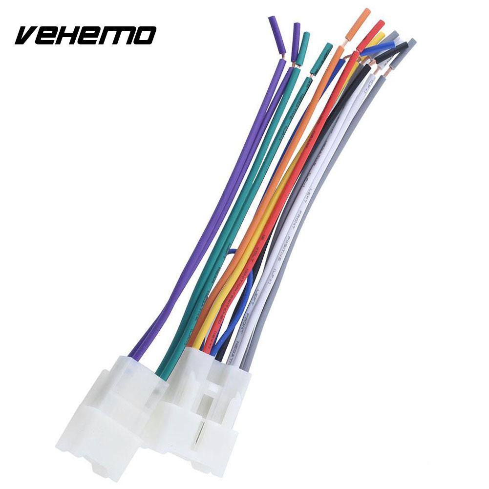 Vehemo Stereo Cd Player Wiring Harness Wire Aftermarket Radio Install For Toyota Car In Cables Adapters Sockets From Automobiles Motorcycles On