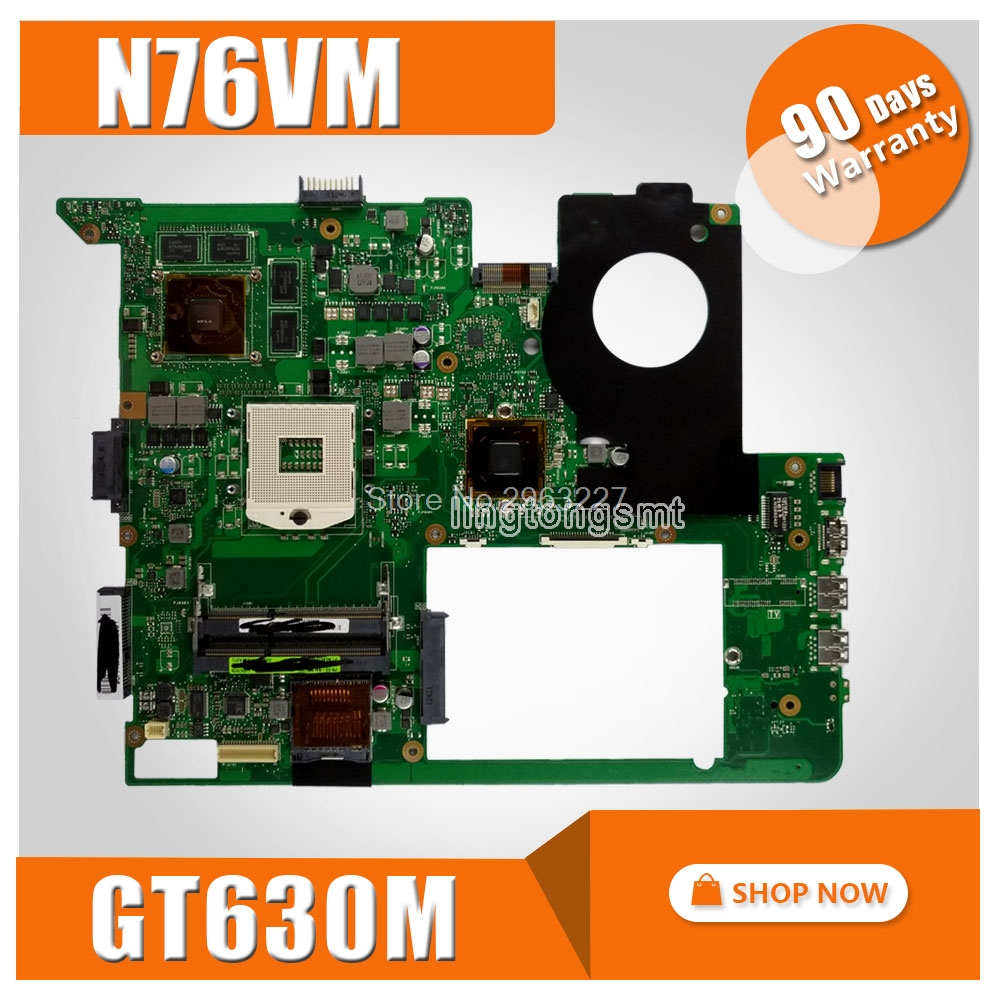 For ASUS N76VJ N76VB N76VZ N76VM N76V REV:2.2 Laptop Motherboard 2GB USB3.0 GT630M N13P-GL-A1 Mainboard tested well ip65 waterproof door access control card reader weigand26 125khz rfid color attention light em id card reader