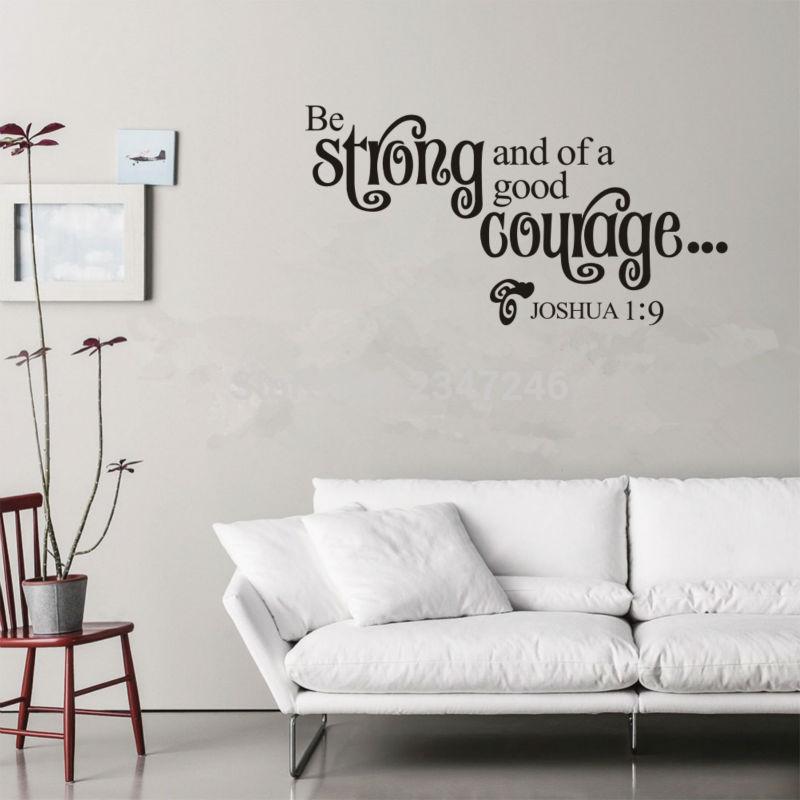 joshua frases cristiano etiqueta de la pared de la pared habitacin decoracin para sala