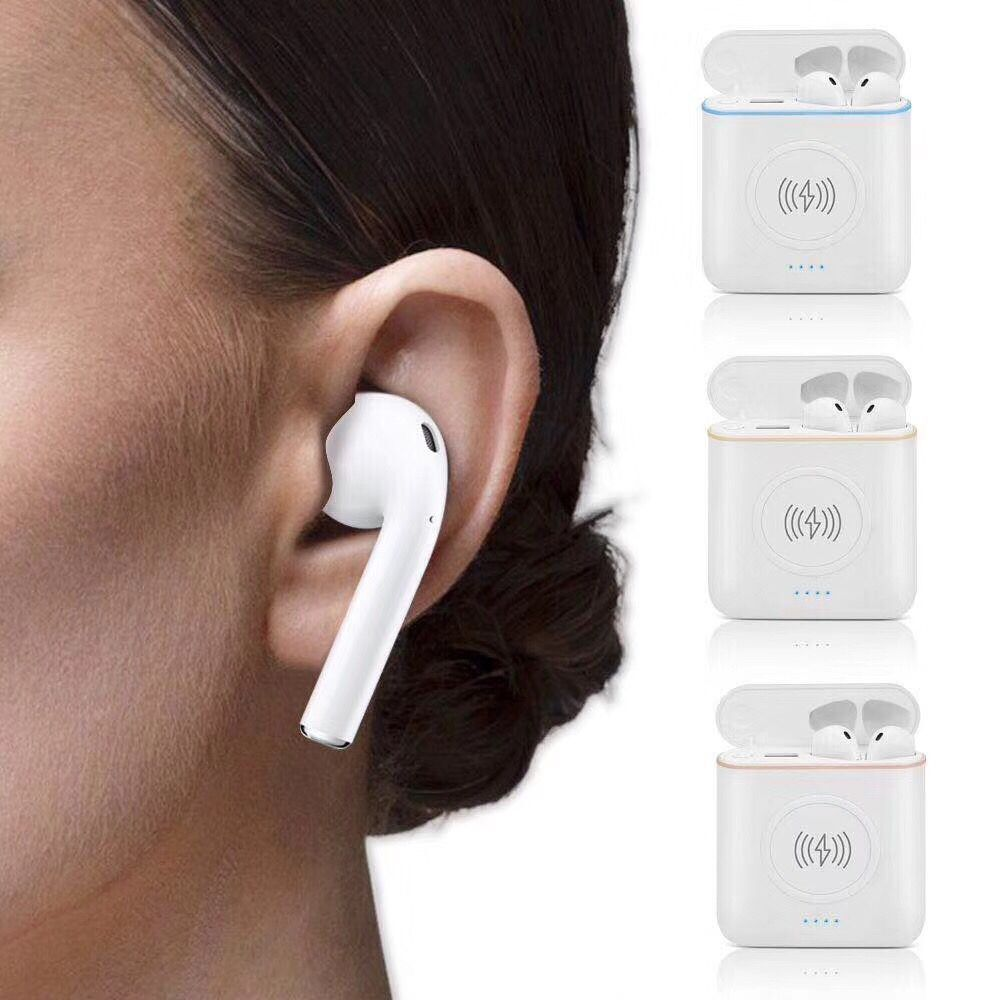 Earphone With Microphone Wireless Headset 3 in 1 Noise Canceling Headset For Phone TWS Ear Buds Can Charge For Phone Earpod