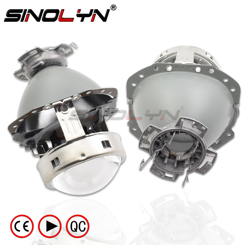Gen2 e55 lentes dos faróis para audi a6 c6/benz w212 w211 w219/bmw e60 e65 e53 bi-xenon lente d2s hid acessórios do projetor tuning