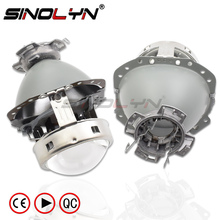 Sinolyn E55 головной светильник объектив тюнинг для Audi A6 C6/BMW E60 X5 E53 E61 E65 E85/Benz W211 W212 D1S D2S D4S проектор светильник аксессуар