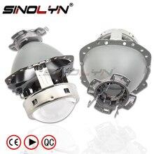 Sinolyn E55 soczewki reflektorów Tuning dla Audi A6 C6/BMW E60 X5 E53 E61 E65 E85/Benz W211 W212 D1S D2S D4S lampa projektorowa akcesoria