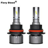 Fiery Steed 25W 6000K 2800Lm H7 Led Headlights 12V 24V Dc Light Bulbs For Auto Car Led Lamp H1 H11 H7 H4 9005 9006 9012 Canbus