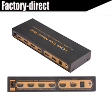 4kX2k HDMI Matrix 6X2 with EDID&HDMI audio extractor supports 6 HDMI inputs&2 HDMI outputs with remote