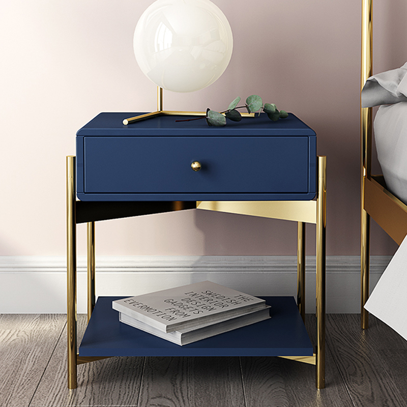 Free White Black Modern Iron Golden Nightstand Coffee Sofa End Bedside Table Home Furniture Bedstand Cabinet Cupboard Bedroom