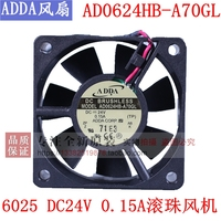 NEW ADDA AD0624HB-A70GL 6025 DC24V DC ball bearing cooling fan