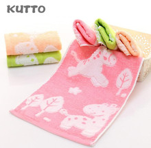 Hot Selling Kutto 25*50cm Bamboo fiber kapok blended childrens towel cartoon pattern soft absorbent face