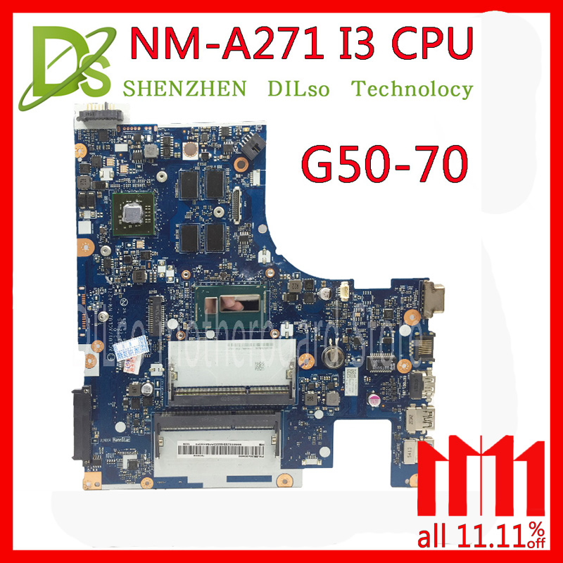 KEFU G50-70 For Lenovo G50-70 Z50-70 i3 motherboard ACLU1/ACLU2 NM-A271 Rev1.0 with graphics card Test laptop motherboard compatible for lenovo g50 70 aclu1 aclu2 nm a271 sr170 i5 4200u ddr3