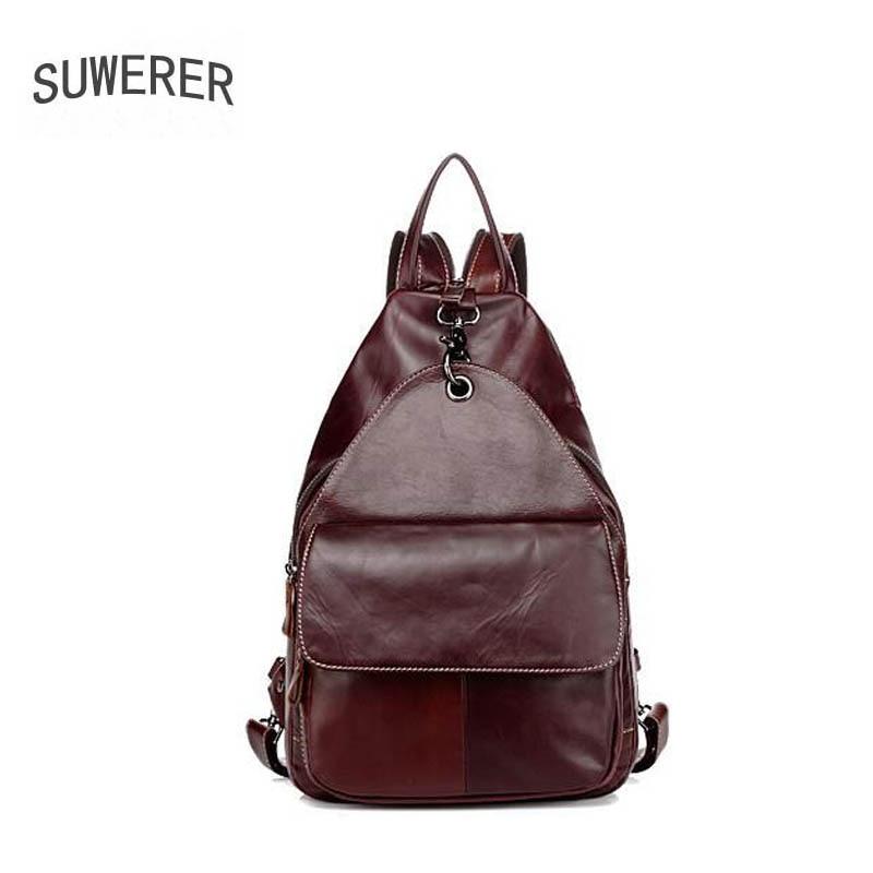 2019 nouvelles femmes en cuir véritable sac famou marque en cuir véritable femmes sacs multifonctionnel décontracté femme sac à dos