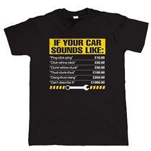 2018 модная мужская футболка из 100% хлопка, футболки под заказ, если ваш автомобиль звучит как, Мужская забавная Механическая футболка от произ...