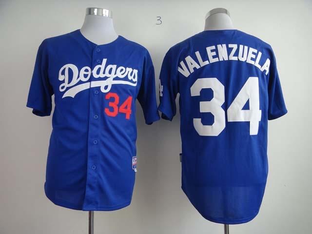 eefc05c300c4f 2015 Los Angeles Dodgers jerseys shirt Embroidery  34 fernando valenzuela  Jersey authentic la Dodgers shirt white gray blue on Aliexpress.com