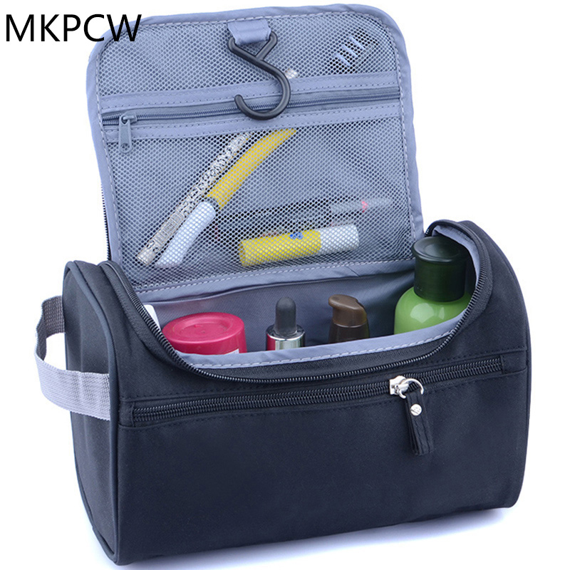 New Women and men Large Waterproof Makeup bag Nylon Travel Cosmetic Bag Organizer Case Necessaries Make Up Wash Toiletry Bag elegant business men toiletry bag travel organizer cosmetic bag necessaries