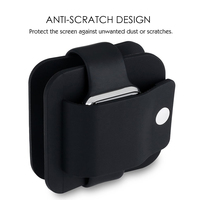 Besegad силиконовый зарядный кабель Winder стенд зарядное устройство Настольный держатель кронштейн колыбели для Apple Watch iWatch серии 1 2 3 4 38 мм 42 мм