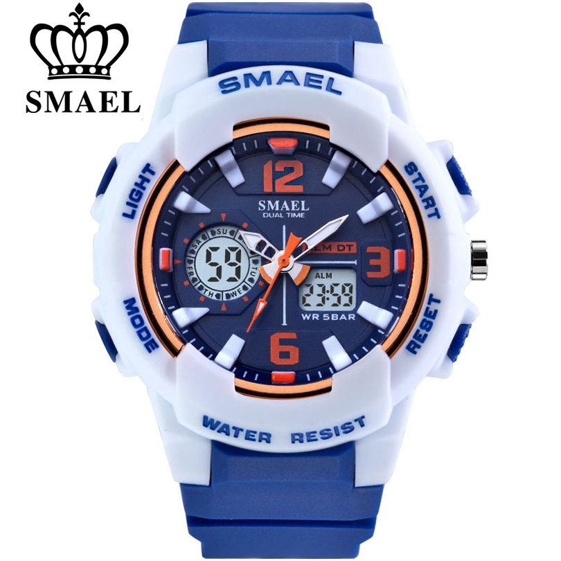 SMAEL Brand Fashion Women Sports Watches LED Digital Quartz Military Clock Man Watch Boy Girl Student Multifunctional Wristwatch