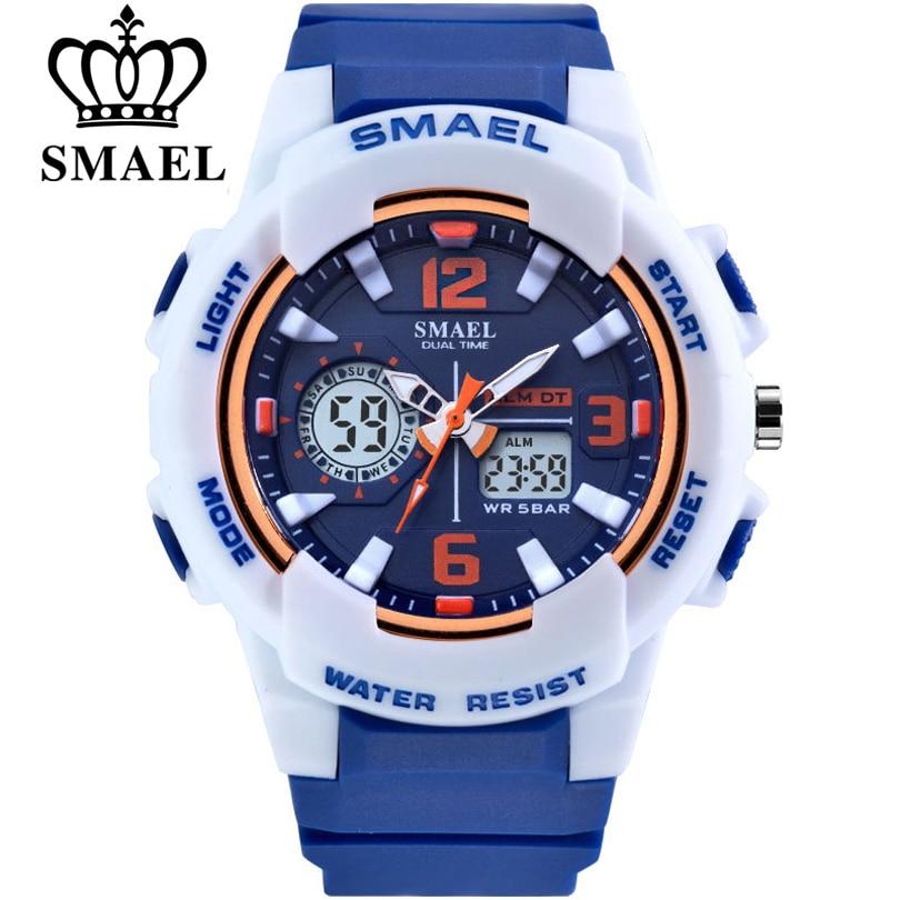 SMAEL Brand Fashion Women Sports Watches LED Digital Quartz