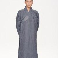 Монах платье Hanfu платье Китай монах пальто буддийский костюм Шаолинь Одежда Кунг фу Мастер одежда