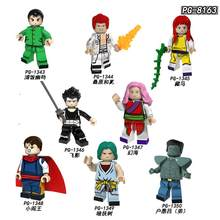 PG8163 Builing Blocks YuYu Hakusho Suzuki Comics Figures Genkai Yusuke Urameshi Kurama Dark Tree Bricks Model For Children Toys(China)