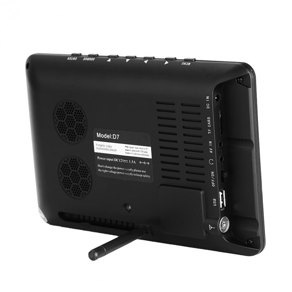 LEADSTAR 7 inch DVB-T2 Digital Analog Television TV 800x480 High Resolution Support TF Card USB Audio
