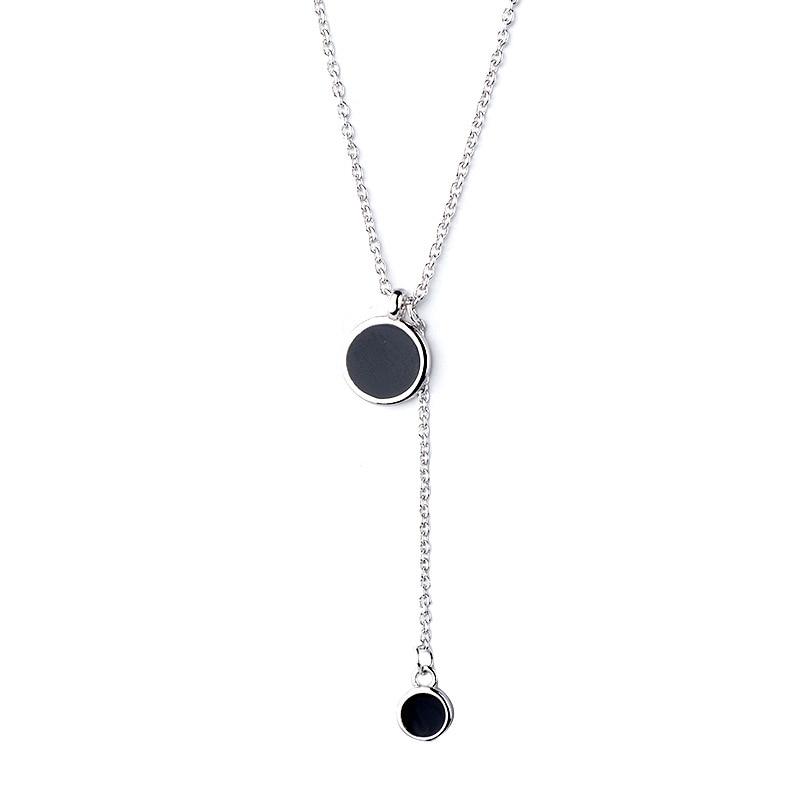 Punk amant bijoux cadeau Vintage cadres ronds médaillon colliers 925 argent pendentifs collier bijoux 9748