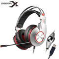 XIBERIA K5 USB Gaming Headphones Computer Stereo Over-Ear Game Headset with Surround Sound Flexible Microphone Mic for PC Gamer
