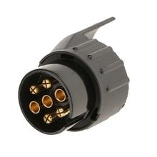 7 pin to 13 pin Twin Short Towing Wiring Socket Plug Adaptor 12V High Quality Purple copper 7 pin trailer plug