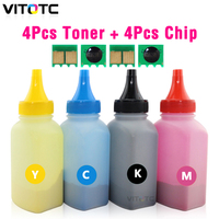 4 CRG331 Colored Toner Powder + 4 Toner Reset Chip For Canon LBP7100 7110 LBP7100cn LBP7110cw MF8280cw MF8250cn MF8230cn MF8030