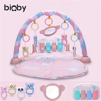 3 in 1 Baby Fitness Musical Gym Play Mat Soft Baby Kick Lay Activity Exercise Carpet Bodybuilding Frame Blanket With Pedal Piano