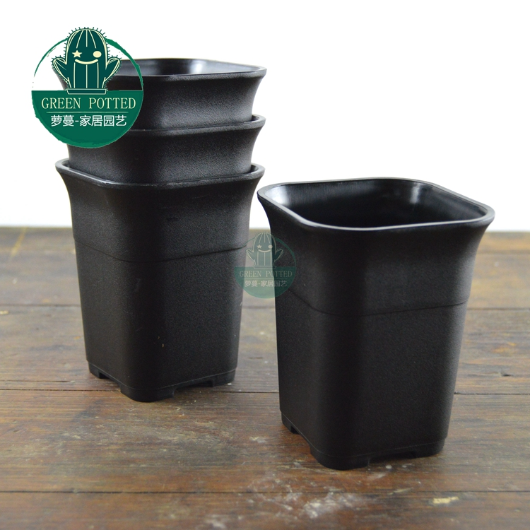 Vientiane square plastic flower pots succulents planted high waist matte pot 88 110 mm