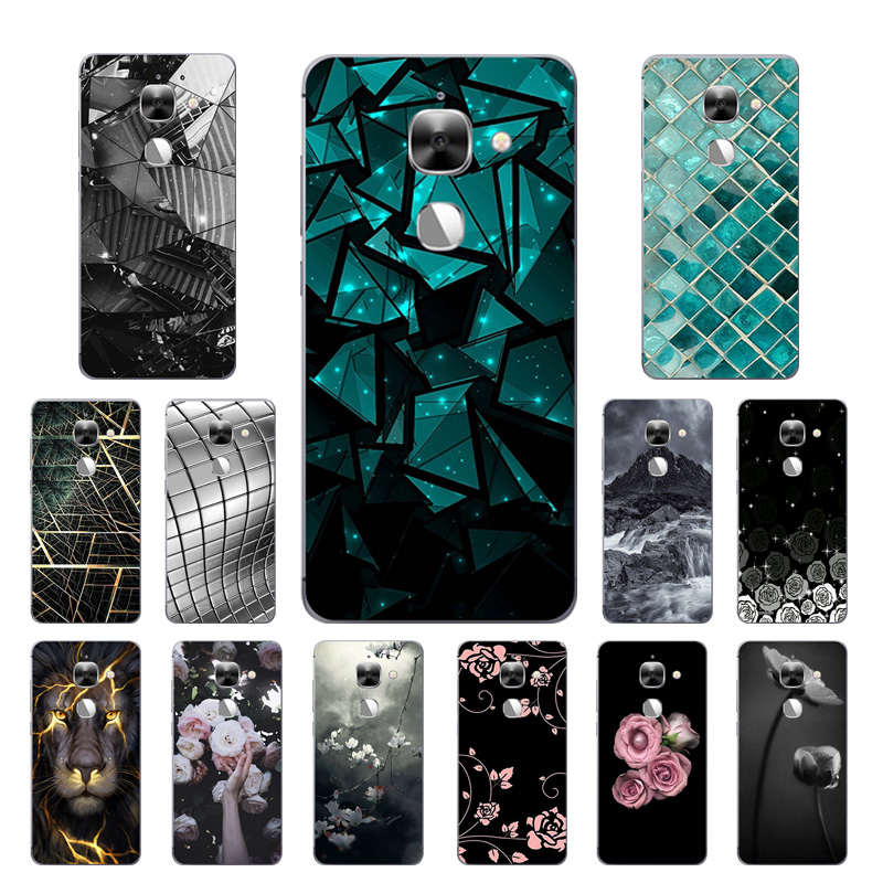 For LeEco Le Max2 Case X820 Silicone Letv Le Max 2 Cover Leeco Max2 Coque Triangle Printing for Le Eco Le 2 Max X829 X821