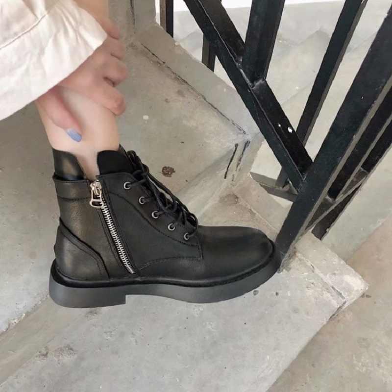 Zapatos mujer 2019 verano nueva moda salvaje encaje botas cortas moto red Zapatos altos mujer Martin botas