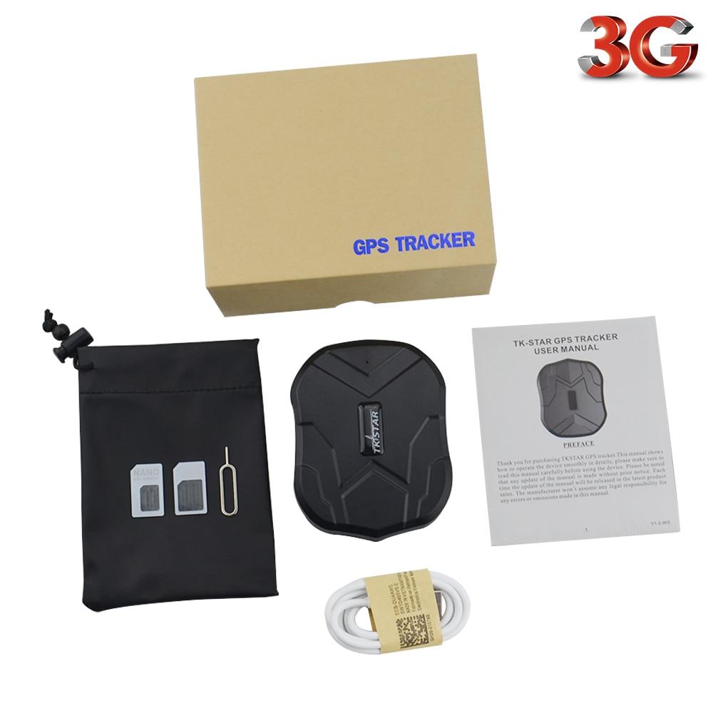 TKSTAR Waterproof Car GPS Locator TK905 3G 3G Vehicle GPS Tracker 5000mAh 90 Days Standby Magnet