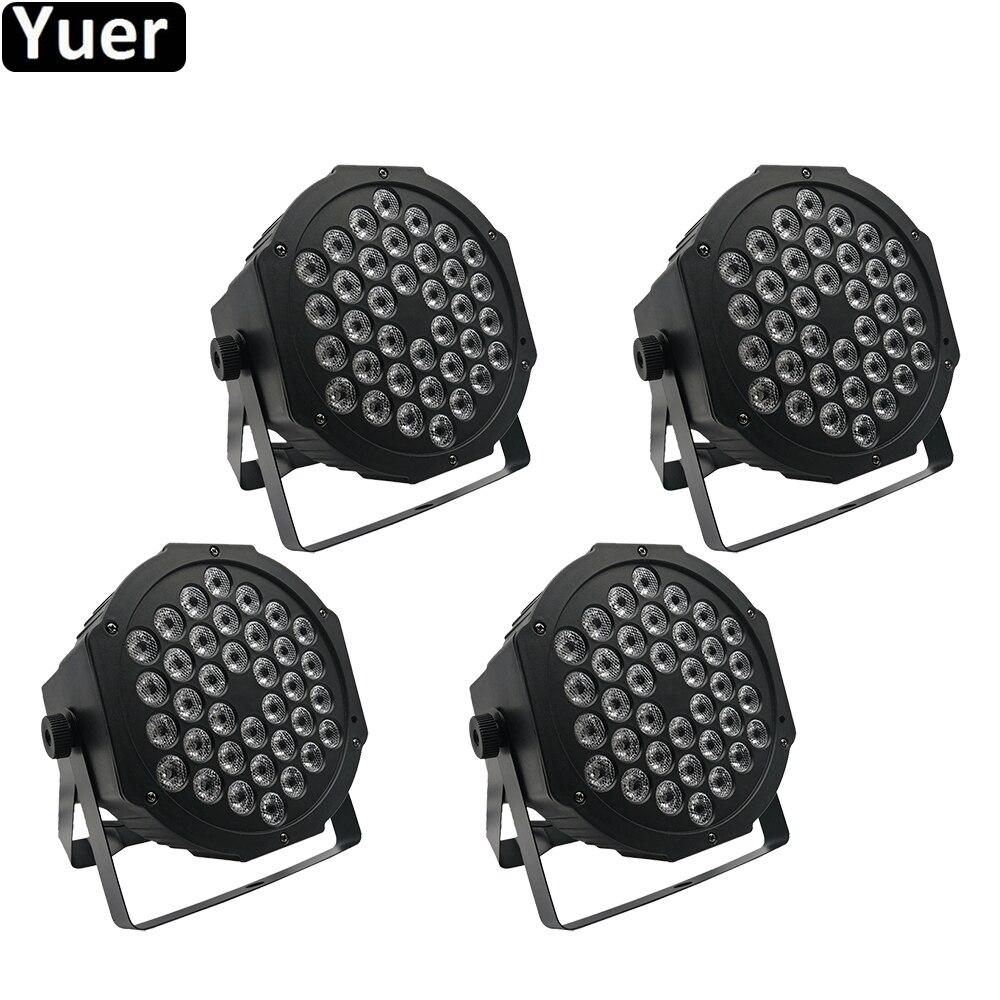 4Pcs/Lot LED Flat Par Light 36x3W RGB LED Par DMX512 Stage Lighting Effect Flat Par For DJ Disco Party KTV Stage Lighting