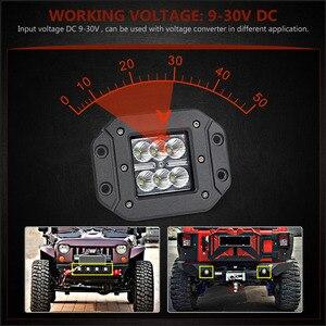 Image 3 - Barre lumineuse de travail, projecteur, pour voiture hors route, ATV UTV Kamaz UAZ 4x4, éclairage antibrouillard pour voiture, 18W LED de phare de voiture