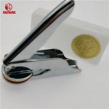 Sello de repujado de acero inoxidable, alicates de mesa de boda personalizados, sello de logotipo personalizado de cuero
