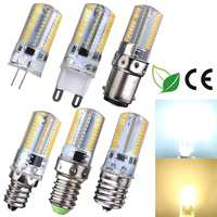 10PCS Corn Bulb Dimmable Silicone LED Lamps 80 Leds SMD 3014 BA15D Energy Saving Replace Halogen Lamp White/warm white 220V 240V