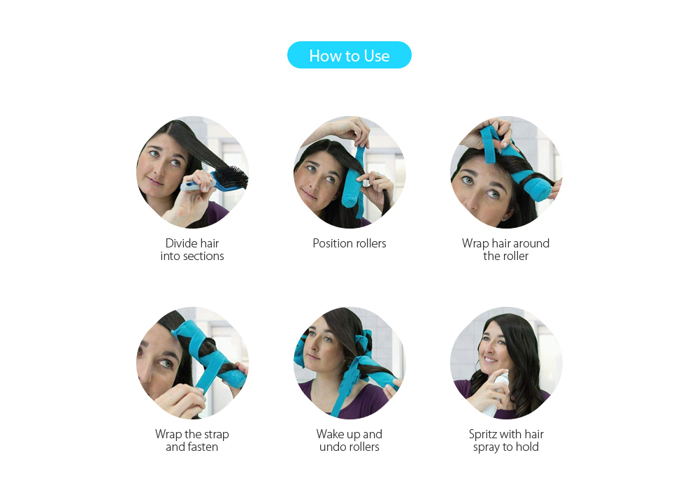 Купить с кэшбэком Flexible Foam and Sponge Hair Curlers Nighttime Roller for All Kinds of Hairstyles 8pcs