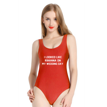 PINJIA me vi como RIHANNA en mujeres calientes Monokini traje de baño de una pieza traje de baño trajes de baño Sexy playa (S597)