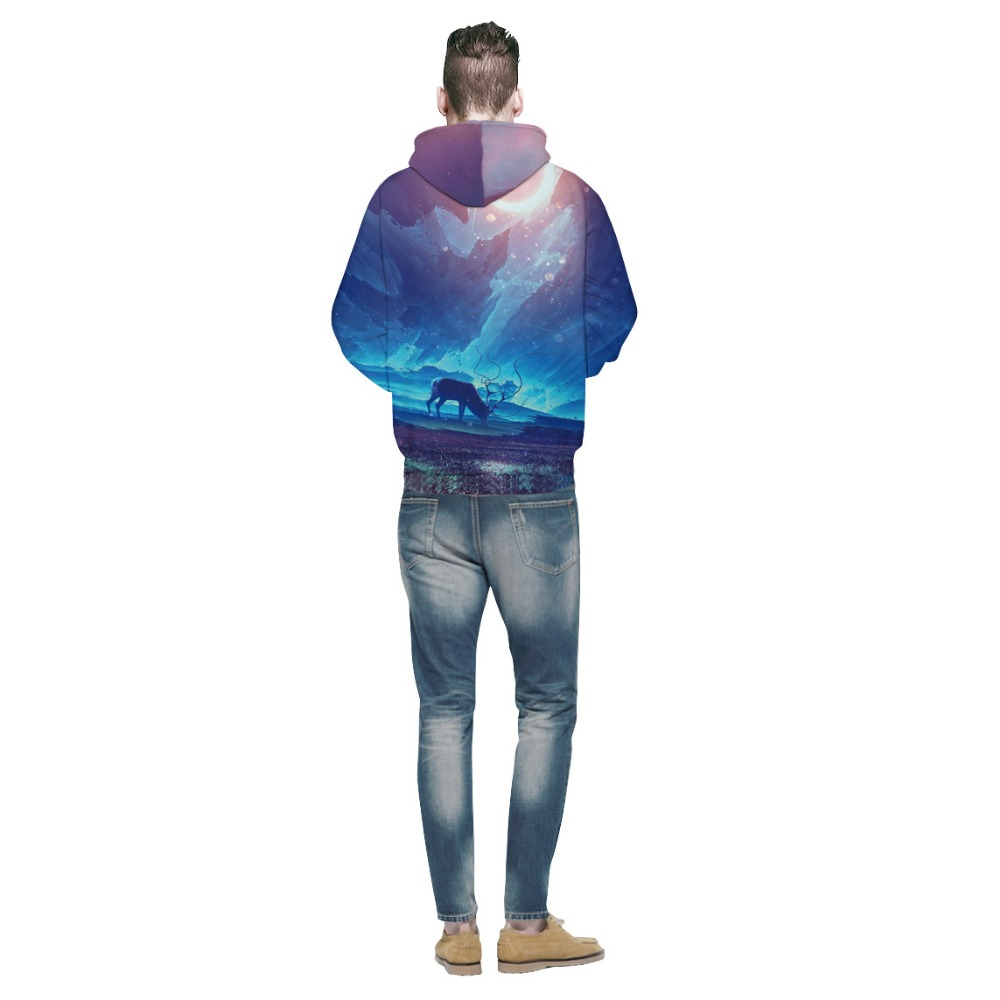 Mr.1991INC 2018 new Hot Blue sky printing 3d Sweatshirts Men/Women hoodie sweatshirt Casual Hooded Pullovers Men Hoodies M132