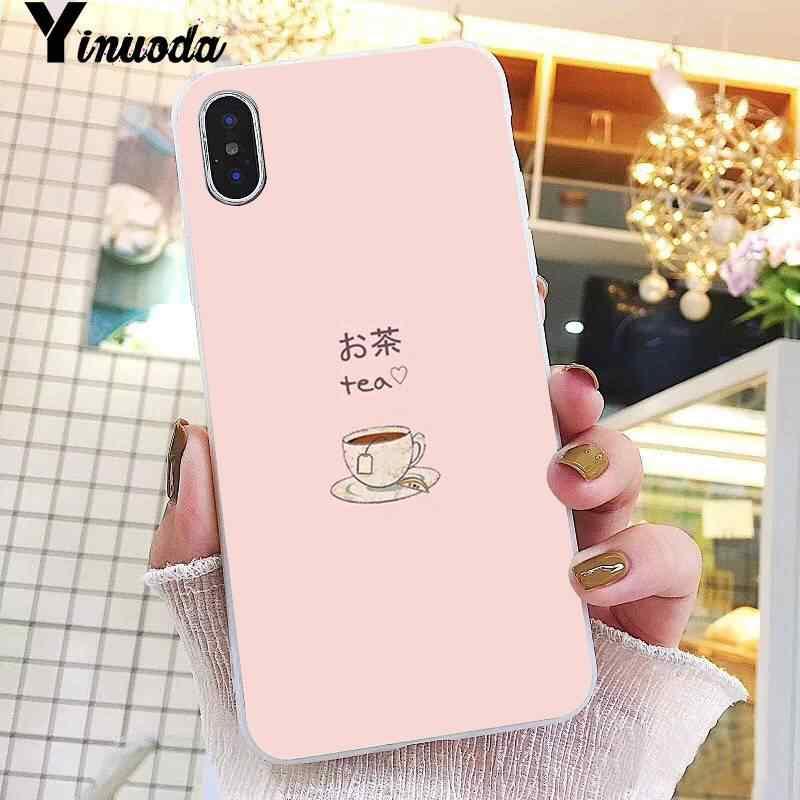 Yinuoda かわいい日本のイチゴミルク食品カバー電話ケース iphone 8 7 6 6S プラス X XS 最大 5 5S 、 SE XR 10 11 プロマックス