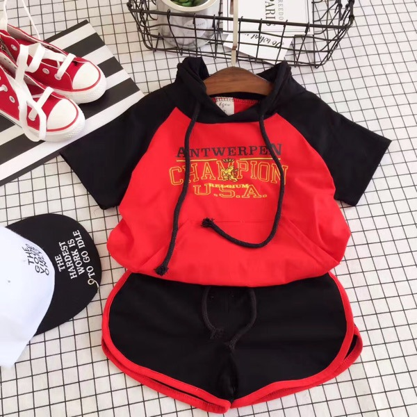 Boys and girls sports suit summer student dress two pieces of cool Korean version of new childrens clothes 60303