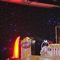3*4m blue and white LED Star Curtain LED Stage Backdrop LED Star Cloth for wall decoration wedding led backdrop