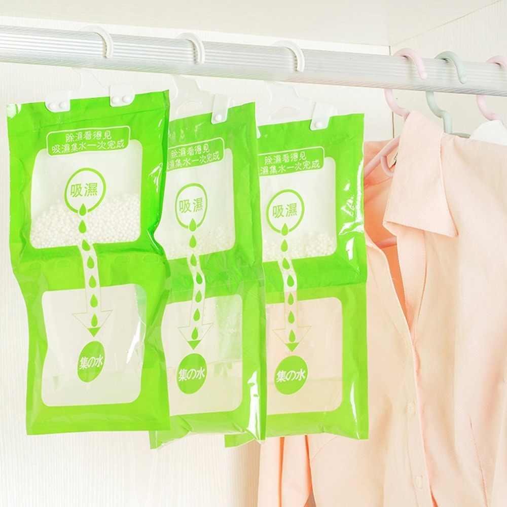 100 グラム除湿バッグ水分吸収吊りワードローブ吸湿性防カビ乾燥剤乾燥剤家庭用化学物質