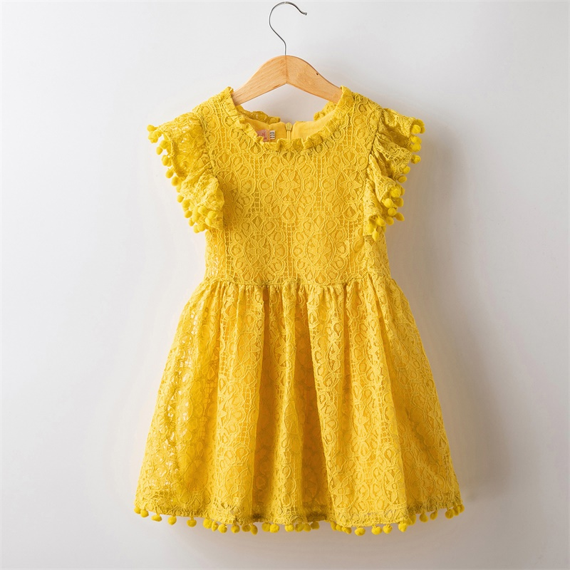 HTB1HBEjXAY2gK0jSZFgq6A5OFXaO Girls Dress 2019 New Summer Brand Girls Clothes Lace And Flower Design Baby Girls Dress Kids Dresses For Girls Casual Wear 3 8 Y