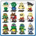 Mini Qute WTOYW dr. estrella 3d Anime Dragon ball Son Goku chicos diamond bloques de construcción de plástico de dibujos animados modelo educativo del juguete