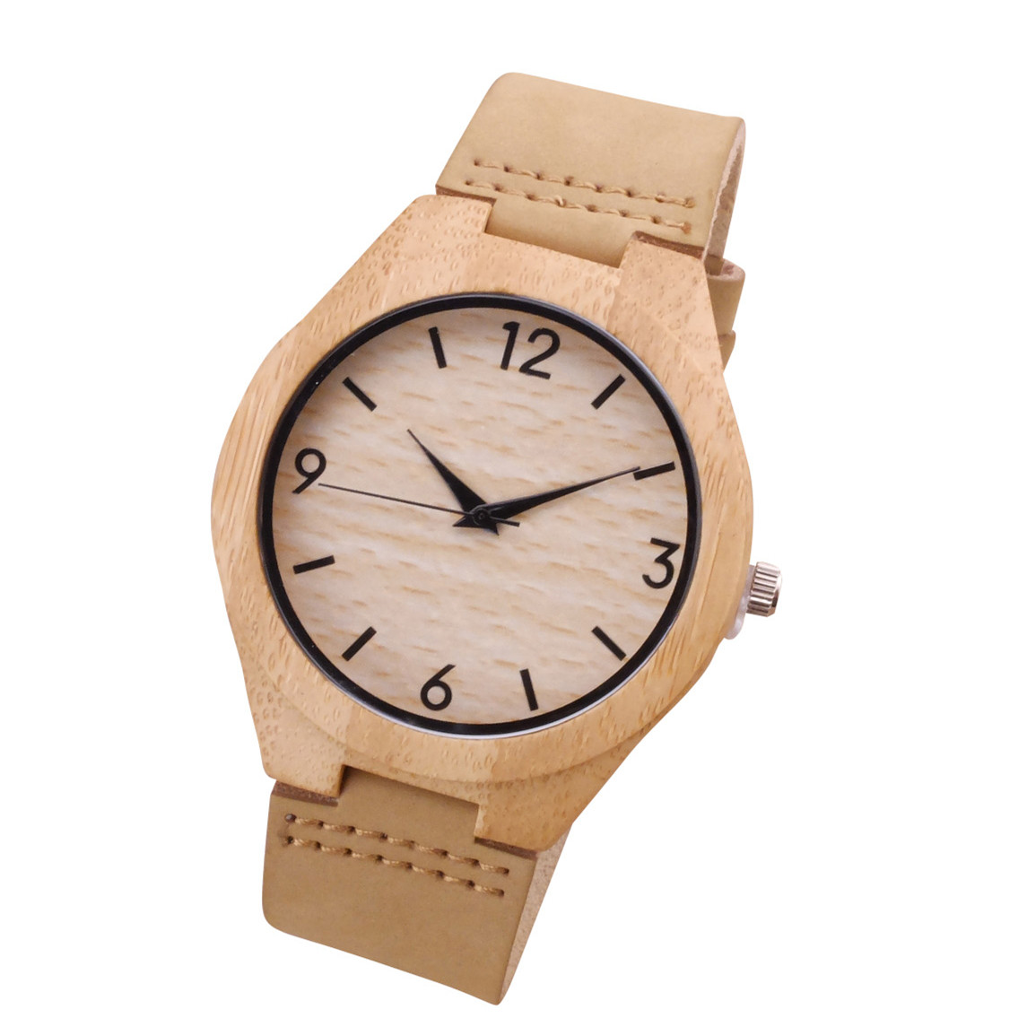 2018 Men women wood watch simple light Bamboo wristwatch handmade natural wood quartz watches festival Memorial Day gift simple casual wooden watch natural bamboo handmade wristwatch genuine leather band strap quartz watch men women gift page 3