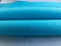 1 Meter Blue Fleece Fabric Adhesive Brushed Woven Fabric For DIY Doll Cloth Sewing Stuffed Toys